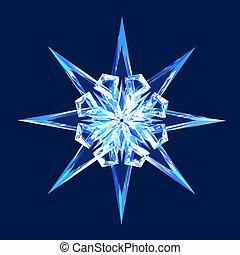 Isolated diamond star - Beautiful brilliant eight-pointed...