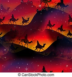 Seamless Christmas Magi Wrapping Paper - A completely...