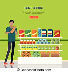 Banner for Supermarkets and Grocery Stores. - Best choice....