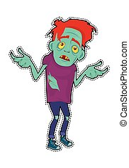 Zombie Character Sticker. Fictional Being - Zombie memphis...