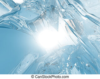 Ice background - Beautiful blue textured abstract background...