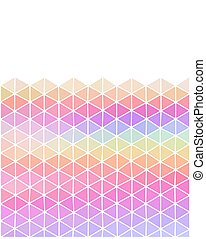 Pastel colored triangular background with copy space
