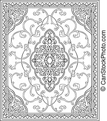 Oriental template for carpet. - Oriental abstract ornament....