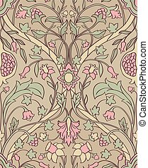 Floral pattern for wallpaper. - Tender floral pattern....
