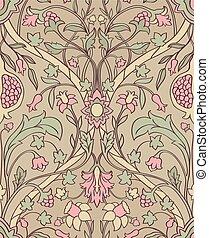 Floral pattern for wallpaper. - Tender floral pattern....