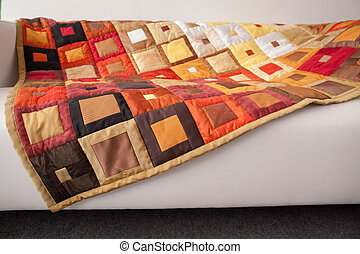 Part of patchwork quilt as background. - Patchwork quilt....