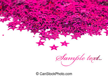 celebration stars on white background