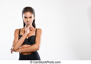 Confident young woman expressing her serenety - Mysterious...