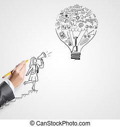 grande,  idea, éxito