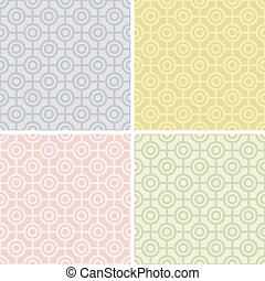 Bullseye Patterns in Pastels - A seamless geometric bullseye...