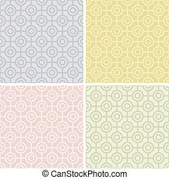 Bullseye Patterns in Pastels