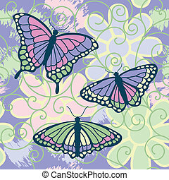 Butterflies Are Free - A vector illustration of three...