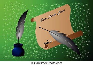 Dear Santa Claus, - letter for Santa Claus , Dear Santa...