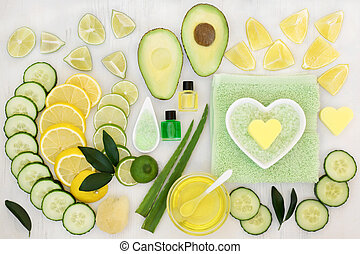Skincare Beauty Treatment - Ingredients for skin care beauty...