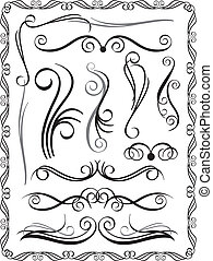 Decorative Borders Set 1 - Collection 1 of decorative...
