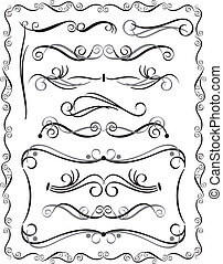 Decorative Borders Set 3 - Collection 3 of decorative...