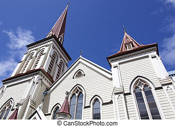 Wellington Historic Church - The spires of historic St...