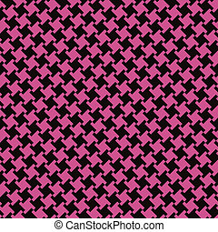 Different Houndstooth_Black-Magenta - An untraditional...