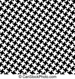Different Houndstooth_Black-White - Seamless houndstooth...