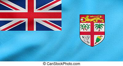 reale, tessuto, ondeggiare, struttura, bandiera, Figi
