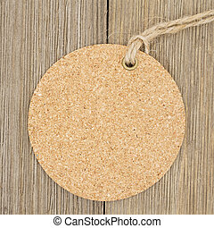 Old fashion round gift tag