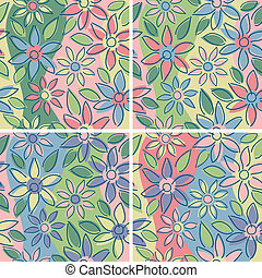 Free-Form Floral_Spring - A seamless free-form floral...