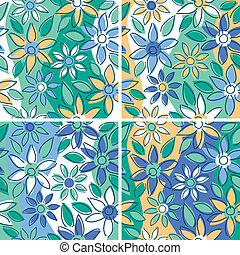Free-Form Floral_Summer - A seamless free-form floral...
