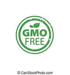 Vector logo gmo free - Template design logo gmo free. Vector...