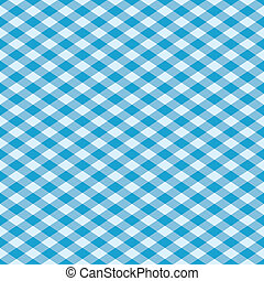 Gingham Pattern_Blue - Seamless gingham plaid pattern in...