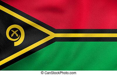 reale, tessuto, ondeggiare, struttura, bandiera,  Vanuatu