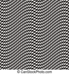 Gingham Wave Pattern - Abstract seamless wavy gingham...