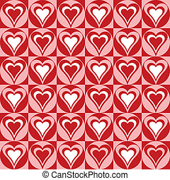 Hearts Background_Red-White