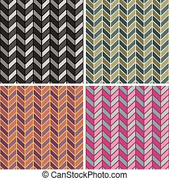 Herringbone Pattern_4 Colorways - Vector seamless...