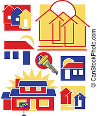 Home Icons Collection 1 - Vector collection #1 of nine...