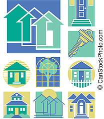 Home Icons Collection 3 - Vector collection #3 of nine...
