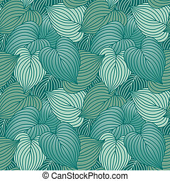 Hosta Leaf Pattern_Blue - Vector seamless pattern of hosta...