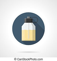 Eau de parfum flat color round vector icon - Simple glass or...