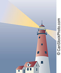 Lighthouse Background - Lighthouse background with area for...