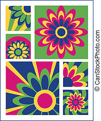 Little Flower Designs 2 - Vector collection 2 of nine floral...