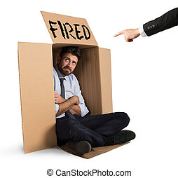 Fired businessman - Desperate and fired businessman hides in...