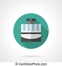 Perfumery products flat color round vector icon - Elegant...
