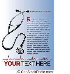 Medical Layout - Vector healthcare page layout with...