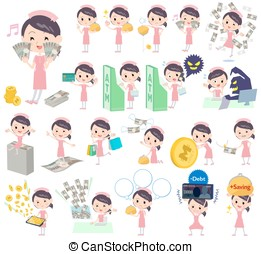 Nurse About the money - Set of various poses of Nurse About...