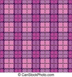 Pixel Plaid in Magenta and Violet