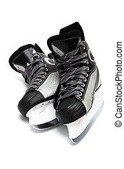 modern black skates - new and modern black skates on white...