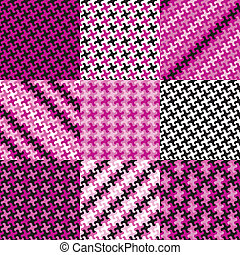 Puzzle Patterns in Magenta