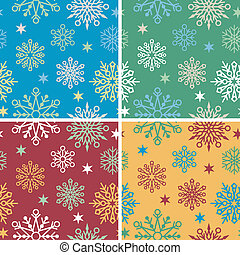 Snowflake Pattern in 4 Colorways