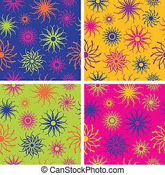 Sparkle Flower Pattern in Brights