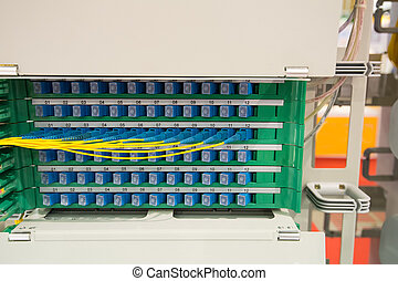 fiber optic in technology data center .