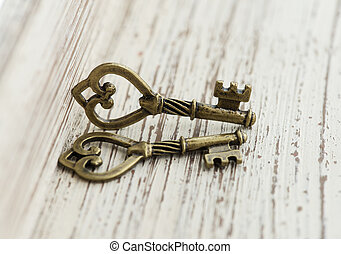 bronze pendant in the form of two keys.
